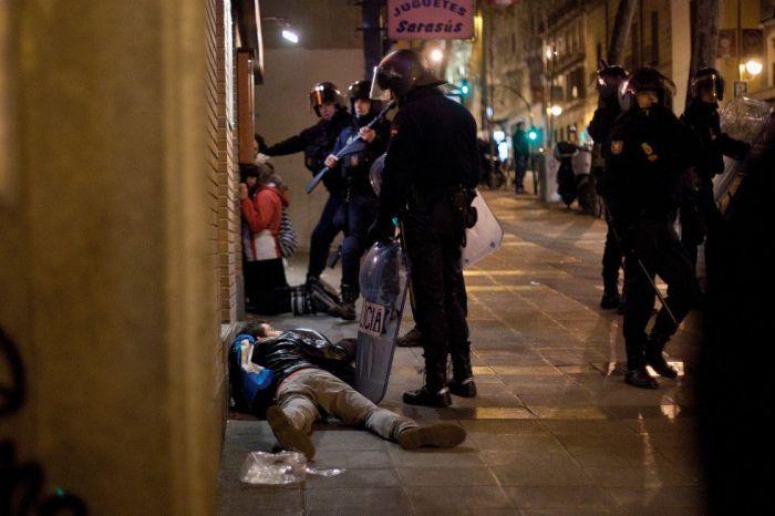 Arrestations après la manifestation du 23 février 2013 à Madrid