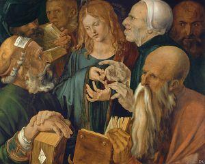 Albert Dürer, Jésus au milieu des docteurs (1506), musée Thyssen-Bornemisza