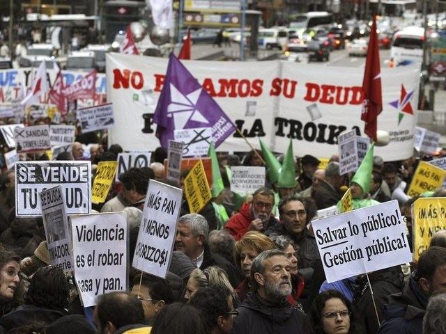 Manifestation contre l'Europe des marchés, Madrid 16 mars 2013