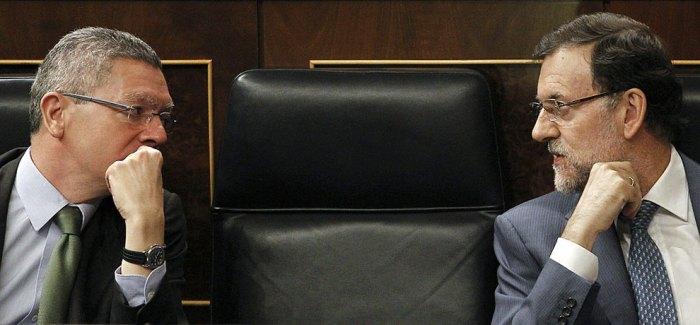 Le ministre de la justice Gallardón et le président Rajoy
