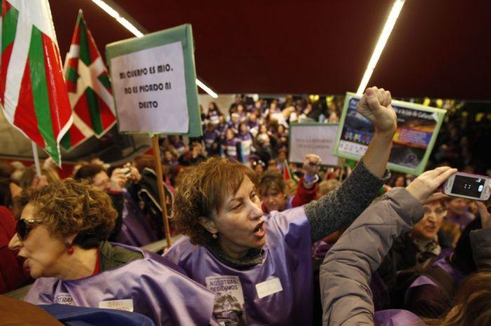 Manifestation contre la réforme de l'avortement à Madrid